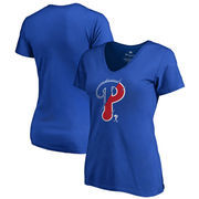 Philadelphia Phillies Fanatics Branded Women's X-Ray Plus Size V-Neck T-Shirt - Royal