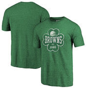 Cleveland Browns NFL Pro Line by Fanatics Branded St. Patrick's Day Emerald Isle Tri-Blend T-Shirt - Green