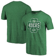 San Francisco 49ers NFL Pro Line by Fanatics Branded St. Patrick's Day Emerald Isle Tri-Blend T-Shirt - Green