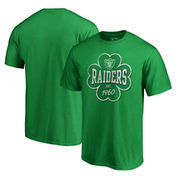 Oakland Raiders NFL Pro Line by Fanatics Branded St. Patrick's Day Emerald Isle Big and Tall T-Shirt - Green