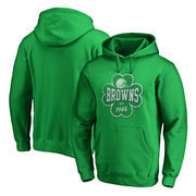 Cleveland Browns NFL Pro Line by Fanatics Branded St. Patrick's Day Emerald Isle Pullover Hoodie - Kelly Green