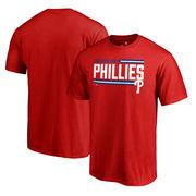 Philadelphia Phillies Fanatics Branded Onside Stripe T-Shirt - Red