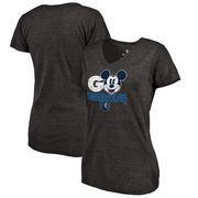 Minnesota Timberwolves Fanatics Branded Women's Disney Rally Cry Tri-Blend V-Neck T-Shirt - Black