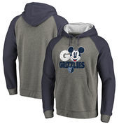 Memphis Grizzlies Fanatics Branded Disney Rally Cry Tri-Blend Raglan Pullover Hoodie - Ash