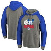Philadelphia 76ers Fanatics Branded Disney Rally Cry Tri-Blend Raglan Pullover Hoodie - Ash