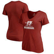 Alabama Crimson Tide Fanatics Branded Women's College Football Playoff 2017 National Champions Official Icon V-Neck T-Shirt – Cr