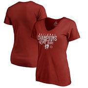 Alabama Crimson Tide Fanatics Branded Women's College Football Playoff 2017 National Champions Lateral V-Neck T-Shirt – Crimson