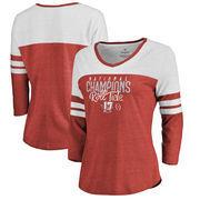 Alabama Crimson Tide Fanatics Branded Women's College Football Playoff 2017 National Champions Lateral Stripe Raglan 3/4-Sleeve