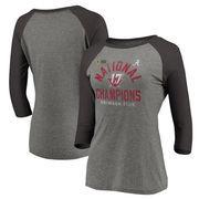 Alabama Crimson Tide Fanatics Branded Women's College Football Playoff 2017 National Champions Long Snap Raglan 3/4-Sleeve T-Shi