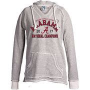 Alabama Crimson Tide Blue 84 Women's College Football Playoff 2017 National Champions French Terry Pullover Hoodie – Cream