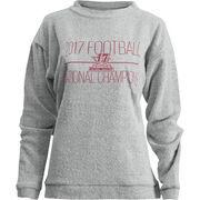 Alabama Crimson Tide Pressbox Women's College Football Playoff 2017 National Champions Comfy Terry Pullover Sweatshirt – Heather
