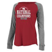 Alabama Crimson Tide Women's College Football Playoff 2017 National Champions Preppy Patch Long Sleeve T-Shirt – Crimson