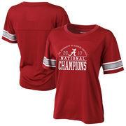 Alabama Crimson Tide Women's College Football Playoff 2017 National Champions Gametime Plus Size T-Shirt – Crimson