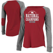 Alabama Crimson Tide Women's College Football Playoff 2017 National Champions Preppy Patch Plus Size Long Sleeve T-Shirt – Crims