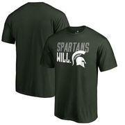 Michigan State Spartans Fanatics Branded Hometown Collection Spartans Will T-Shirt - Green