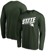 Michigan State Spartans Fanatics Branded Hometown Collection State Long Sleeve T-Shirt - Green
