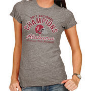 Alabama Crimson Tide Women's College Football Playoff 2017 National Champions Tri-Blend T-Shirt – Heather Gray