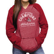 Alabama Crimson Tide Women's College Football Playoff 2017 National Champions Raglan Pullover Hoodie – Crimson