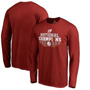 Alabama Crimson Tide Fanatics Branded College Football Playoff 2017 National Champions Multi Kick Long Sleeve T-Shirt – Crimson
