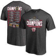 Alabama Crimson Tide Fanatics Branded College Football Playoff 2017 National Champions Schedule T-Shirt – Heather Gray