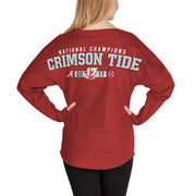 Alabama Crimson Tide Fanatics Branded Women's College Football Playoff 2017 National Champions Play Clock Spirit Jersey Long Sle