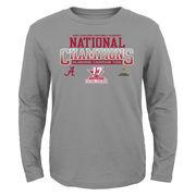 Alabama Crimson Tide Preschool College Football Playoff 2017 National Champions Blend Long Sleeve T-Shirt – Gray