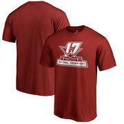 Alabama Crimson Tide Fanatics Branded College Football Playoff 2017 National Champions Official Big & Tall T-Shirt – Crimson