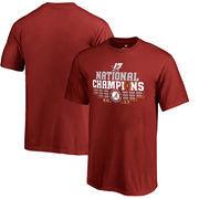 Alabama Crimson Tide Fanatics Branded Youth College Football Playoff 2017 National Champions Multi Kick T-Shirt – Crimson