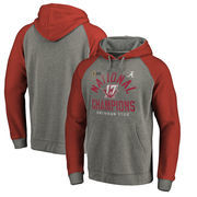 Alabama Crimson Tide Fanatics Branded College Football Playoff 2017 National Champions Long Snap Pullover Hoodie – Heather Gray