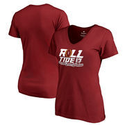 Alabama Crimson Tide Fanatics Branded Women's College Football Playoff 2017 National Champions Neutral Zone V-Neck T-Shirt – Cri