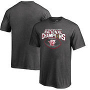 Alabama Crimson Tide Fanatics Branded Youth College Football Playoff 2017 National Champions Pick Six T-Shirt – Heather Gray