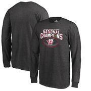 Alabama Crimson Tide Fanatics Branded Youth College Football Playoff 2017 National Champions Pick Six Long Sleeve T-Shirt – Heat