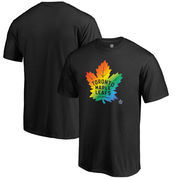 Toronto Maple Leafs Fanatics Branded Rainbow Pride T-Shirt - Black