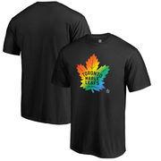 Toronto Maple Leafs Fanatics Branded Rainbow Pride Big and Tall T-Shirt - Black