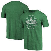 Toronto Maple Leafs Fanatics Branded St. Patrick's Day Emerald Isle Tri-Blend T-Shirt - Green