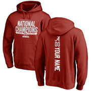 Alabama Crimson Tide Fanatics Branded College Football Playoff 2017 National Champions Personalized Backer Pullover Hoodie – Cri