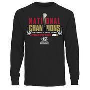 Alabama Crimson Tide College Football Playoff 2017 National Champions Trophy Long Sleeve T-Shirt – Black