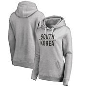 South Korea Flag Fanatics Branded Women's Bars Plus Size Pullover Hoodie - Ash