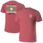 Alabama Crimson Tide College Football Playoff 2017 National Champions Comfort Colors Pocket T-Shirt – Crimson