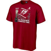 Alabama Crimson Tide College Football Playoff 2017 National Champions Flag T-Shirt – Crimson