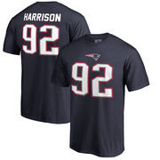James Harrison New England Patriots NFL Pro Line by Fanatics Branded Authentic Stack Name & Number T-Shirt – Navy