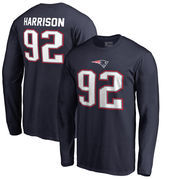 James Harrison New England Patriots NFL Pro Line by Fanatics Branded Authentic Stack Name & Number Long Sleeve T-Shirt – Navy