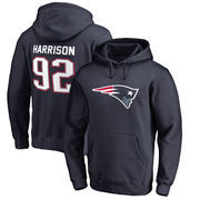 James Harrison New England Patriots NFL Pro Line by Fanatics Branded Player Icon Name & Number Pullover Hoodie – Navy
