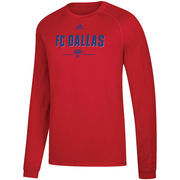 FC Dallas adidas Lined Up Performance Raglan Long Sleeve T-Shirt – Red