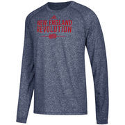 New England Revolution adidas Lined Up Performance Raglan Long Sleeve T-Shirt – Heathered Navy