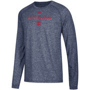 New York Red Bulls adidas Lined Up Performance Raglan Long Sleeve T-Shirt – Heathered Navy