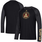 Atlanta United FC adidas Leave A Mark Performance Long Sleeve climalite T-Shirt – Black/Heathered Black