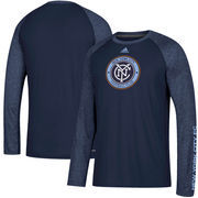 New York City FC adidas Leave A Mark Performance Long Sleeve climalite T-Shirt – Navy/Heathered Navy