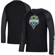 Seattle Sounders FC adidas Leave A Mark Performance Long Sleeve climalite T-Shirt – Black/Heathered Black