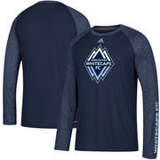 Vancouver Whitecaps FC adidas Leave A Mark Performance Long Sleeve climalite T-Shirt – Navy/Heathered Navy